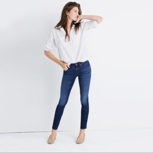 """Madewell 8"""" Skinny Jeans Riverdale Blue Size 28"""
